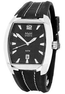 【送料無料】アナログクロックm amp; m orologio da uomo, analogico, al quarzo, caucci m11680645
