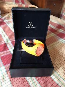 【送料無料】ゼリーシリコンストラップオレンジtoywatch jelly orologio con cinturino in silicone color arancio