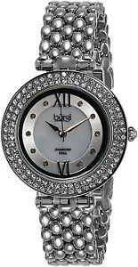 【送料無料】バールストラップburgi bur126ss orologio da polso da donna, cinturino in lega, argento x2j