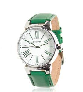 【送料無料】アナロググリーンスキンbilyfer orologio analogico pelle verde 1f598 donna