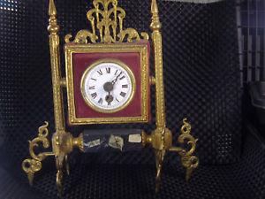 メサゴールドantiguo reloj de sobre mesa aos 40 sin uso bronce y oro restaurar lote watches