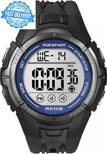 【送料無料】ストラップマラソンブラックウォッチcinturino in resina timex marathon orologio nerot5k3594e