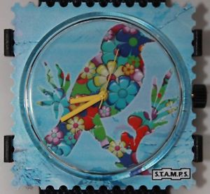 【送料無料】オリジナルスタンプstamps flower bird 105062 quadrante movimento dellorologio nuovo originale stamps