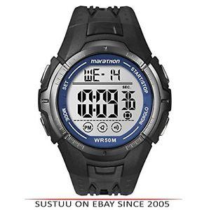 【送料無料】マラソンデジタルブラックスポーツレースクロックtimex t5k359 da uomo ironman maratona digitale sport nero corsa nuovo orologio