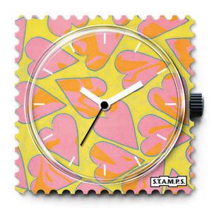 【送料無料】ポインタstamps orologioheartbreaker, stamps gialloverde e bianche puntatore