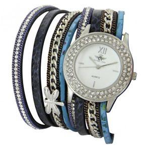 【送料無料】ジョンtrs belle montre femme bleu doublebracelet m john 1080