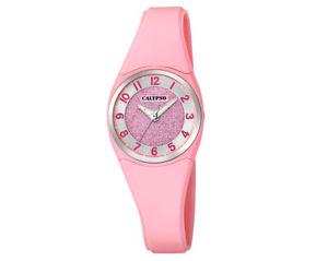 【送料無料】ピンククォーツプラスチックアナログカリプソブレスレットcalypso bracciale per bambini rosa orologio al quarzo analogico plastica