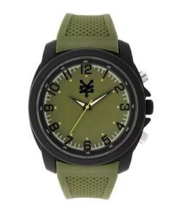 【送料無料】ニューヨークオリーブオリーブシリコンストラップアナログzoo york uomo oliva analogico orologio con cinturino in silicone doliva 53935