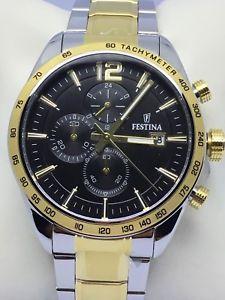 【送料無料】ウォッチマンクロノスチールシルバーゴールドfestina orologio uomo chrono in acciaio silver e oro f167614