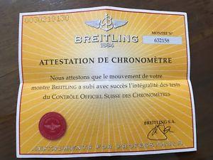 【送料無料】ブライトリングビンテージbreitling garanzia paper certificato usato vintage per uso collezionistico n9