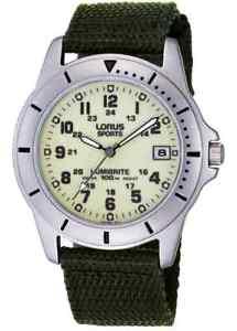 【送料無料】スタイルスポーツグアーガムlorus rxh005l9 stile militare lumibrite sports date 100m wr 2yr guar rrp 4999
