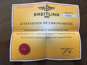 【送料無料】ブライトリングビンテージbreitling garanzia paper certificato usato vintage per uso collezionistico n12