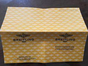 【送料無料】ブライトリングビンテージbreitling garanzia paper certificato usato vintage per uso collezionistico n5