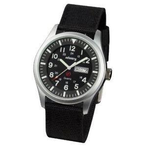 【送料無料】ネックストラップナイロンブラックカラーinfantry in044sn orologio da tasca, cinturino in nylon colore nero a1a