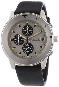 【送料無料】クロノグラフtectonic 41690184 orologio da polso, cronografo, uomo, pelle, nero m9h