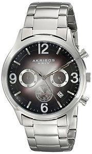 【送料無料】akribos ak607bk orologio da polso da uomo o5v