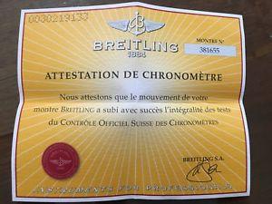 【送料無料】ブライトリングビンテージbreitling garanzia paper certificato usato vintage per uso collezionistico n3