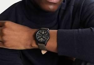 【送料無料】カーキクロノメーターアナログkaki yourturn orologio da polso da uomo analogico con cronometro, iiv