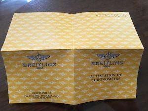 ブライトリングビンテージbreitling garanzia paper certificato usato vintage per uso collezionistico n8