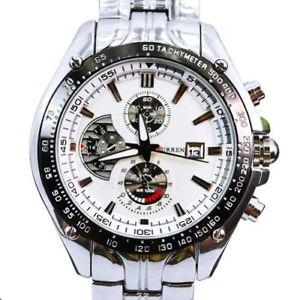 【送料無料】ステンレスストラップcurren m928w orologio da polso da uomo, cinturino in acciaio inox colore s1m