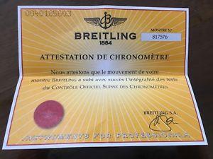 【送料無料】ブライトリングビンテージbreitling garanzia paper certificato usato vintage per uso collezionistico n6
