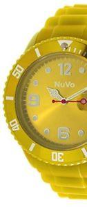 クロックアナログnuvo nu13h10 orologio tendenza analogico al quarzo misto quadrante giallo nuovo