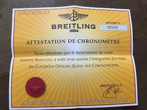 【送料無料】ブライトリングビンテージbreitling garanzia paper certificato usato vintage per uso collezionistico n10