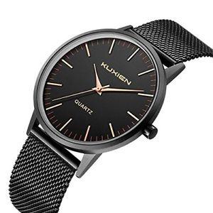 【送料無料】ブラックメンズウォッチクロックnero medio orologi da uomo kuxien orologio da polso da uomo, orologio w8i