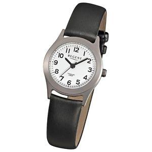 【送料無料】チタンクォーツブラックレザーregent donnaorologio da polsotitanio orologi da donnaquarzo pelle nero urf871