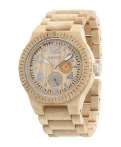 クロックベージュウォッチorologio wewood  kardo beige orologio di legno  wood watch