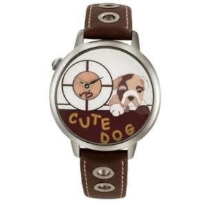 【送料無料】コレクションスキンウォッチbraccialini orologio donna tua collection cute dog acciaio pelle 138bu
