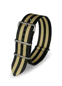 【送料無料】デービスストラップナイロンdavis cinturino orologio nato nylon nero sabbia 22 mm alta qualit k1o