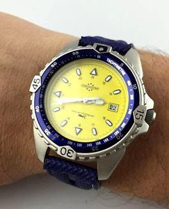 クロックサブクォーツwatch cadet artime chronostar 2851460025 orologio reloj sub  quartz data wt50
