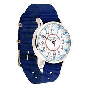 【送料無料】クロックグレーストラップネイビーeasyread time teacher erwrb24orologio 1224grey strap, navy