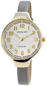 【送料無料】カラーexcellanc 195002800164 orologio da polso donna, ecopelle, colore k8z