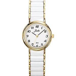 【送料無料】ステンレススチールカラーホワイトjoalia 631141 orologio da polso donna, acciaio inox, colore bianco f1i
