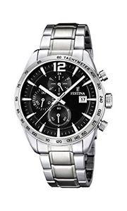 【送料無料】マンストラップfestina f167594, orologio al quarzo da uomo, cinturino in acciaio o1j