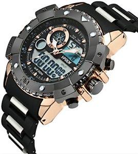 【送料無料】クロックマンスポーツクロノグラフorologio uomo orologi militari sport impermeabile cronografo quadrante grande an