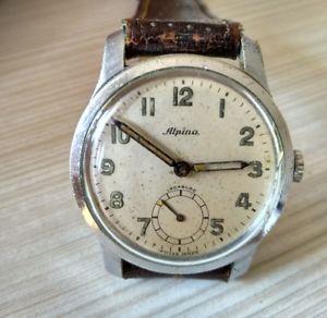 【送料無料】アルピナヴィンテージウォッチウォッチalpina cal 592 manuale anni 40 vintage orologio militare military watch ww2