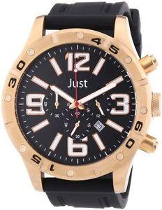 【送料無料】カラーブラックjust watches 48s3978rg orologio da polso uomo, caucci, colore nero n6z