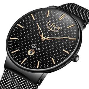 【送料無料】メンズウォッチクロックシンプルデザインファッションアナログnero orologi da uomo impermeabili lige orologio moda minimalista analogico pgq