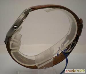 クロックペルセウススチールレザーストラップサブサテンorologio perseo acciaio cinturino pelle  elettronico sub 30 mt satinato  5019