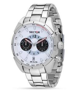 【送料無料】セクタースチールクロノグラフorologio sector 330 uomo cronografo in acciaio r3273794004