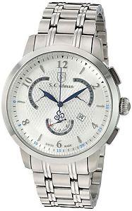 【送料無料】クロノグラフブレスレットscoifman sc0235 orologio da polso, display cronografo, uomo, bracciale u6o