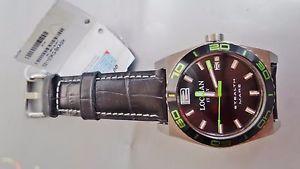 【送料無料】チタンステルスブラックシーグリーンスキンチタニウムウォッチlocman stealth titanio mare nero verde pelle watch men steel titanium montre uhr