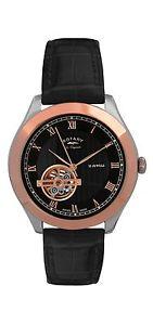 【送料無料】ロータリーレザーストラップブラックrotary gs9050910 orologio da polso, uomo, cinturino in pelle, nero r2y