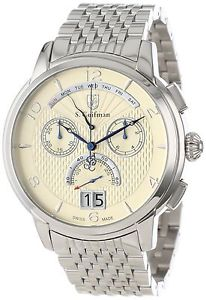 【送料無料】クロノグラフブレスレット×scoifman sc0185 orologio da polso, display cronografo, uomo, bracciale x8f