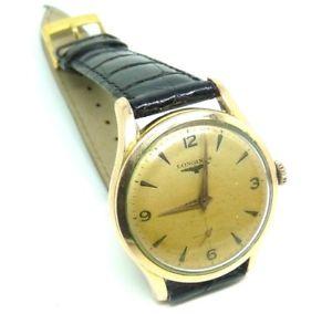 【送料無料】マンゴールドメッキビンテージカサlongines orologio da uomo placcato oro vintage anni 40 cassa 34mm cal 1268z