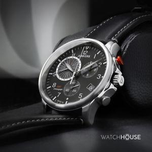 シリーズジュクロノグラフjunkers serie zia ju 68922 gmt cronografo orologio da polso uomo