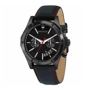 【送料無料】orologio cronografo maserati circuito r8871627004 cassa acciaio cinturino pelle